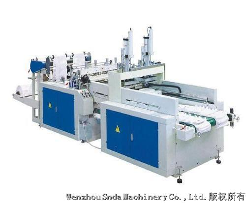 Double channel T shirt bag making machine