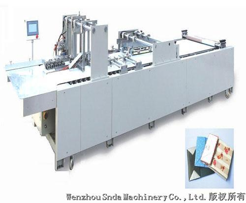 Economical paper handbag forming machine