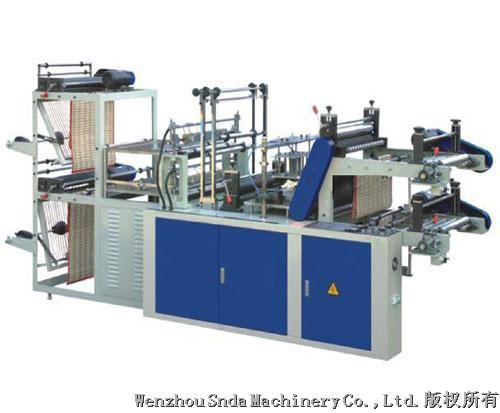 Perforated bag-on-roll making machine