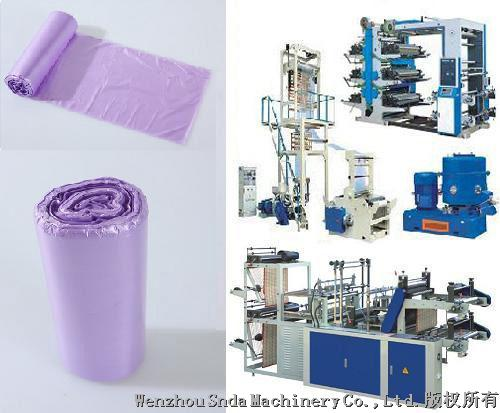 Perforated bag-on-roll making product line