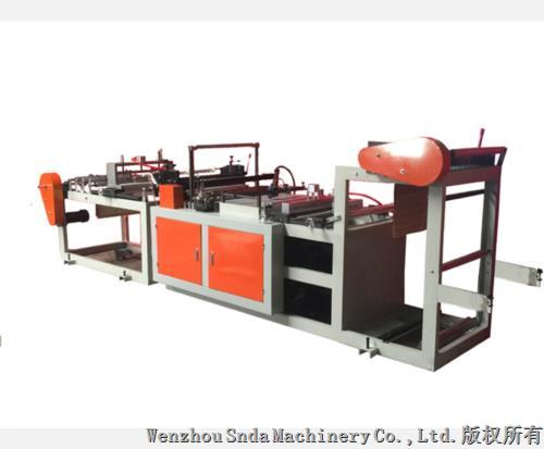 Pre-open bag on roll making machine